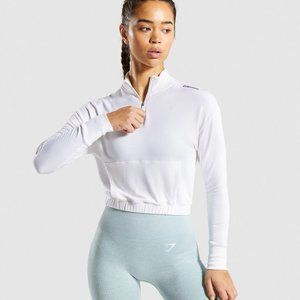 NEW GYMSHARK Pippa Training Pullover White Size XS